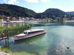 Das Schiff Caprice der Compagnie de Navigation du Lac du Joux