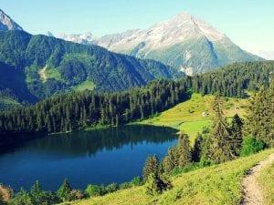 Der Golzernsee ob Silenen im Kanton Uri