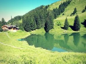 Der Lac Retaud in Les Diablerets