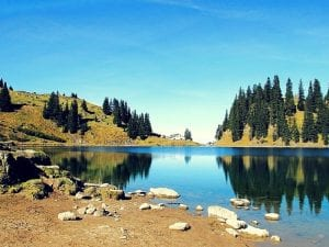 Lac Lioson mit Restaurant