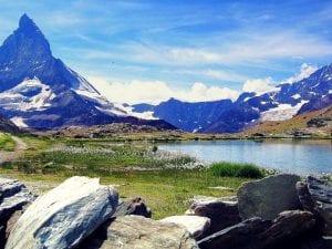 Riffelsee (Zermatt) mit Matterhorn