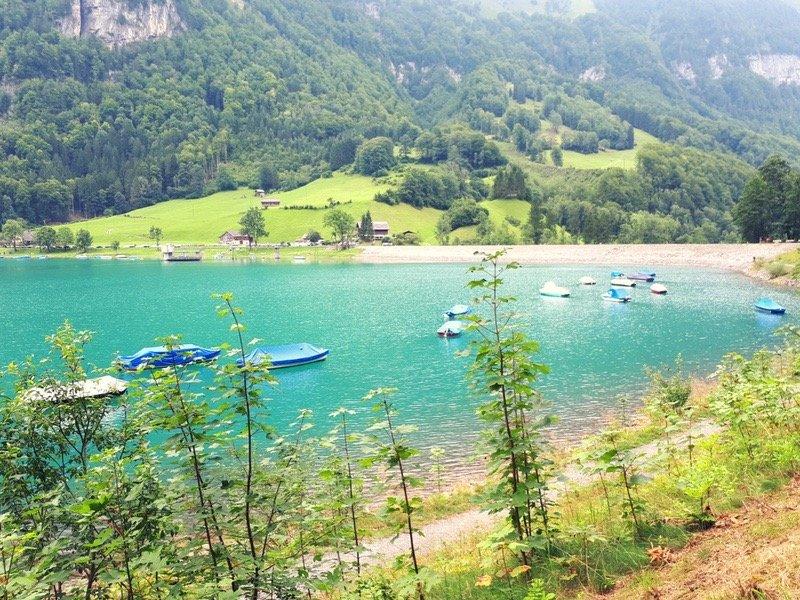 Klöntalersee Kanton Glarus Schweizerseech