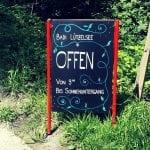 Schild zur Badi Lützelsee