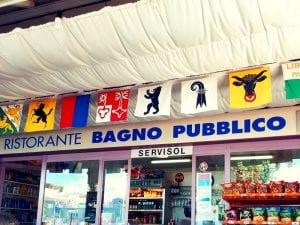 Badi-Restaurant im Bagno Pubblico von Ascona